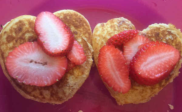 Multigrain Pancakes with LOVE